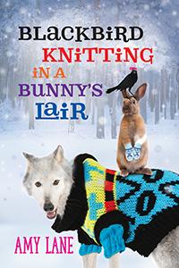 Blackbird Knitting ina Bunnys Lair